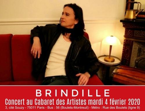 Brindille Concert au Cabaret des artistes mardi 4 février 2020 - Association Label de Nuit Productions